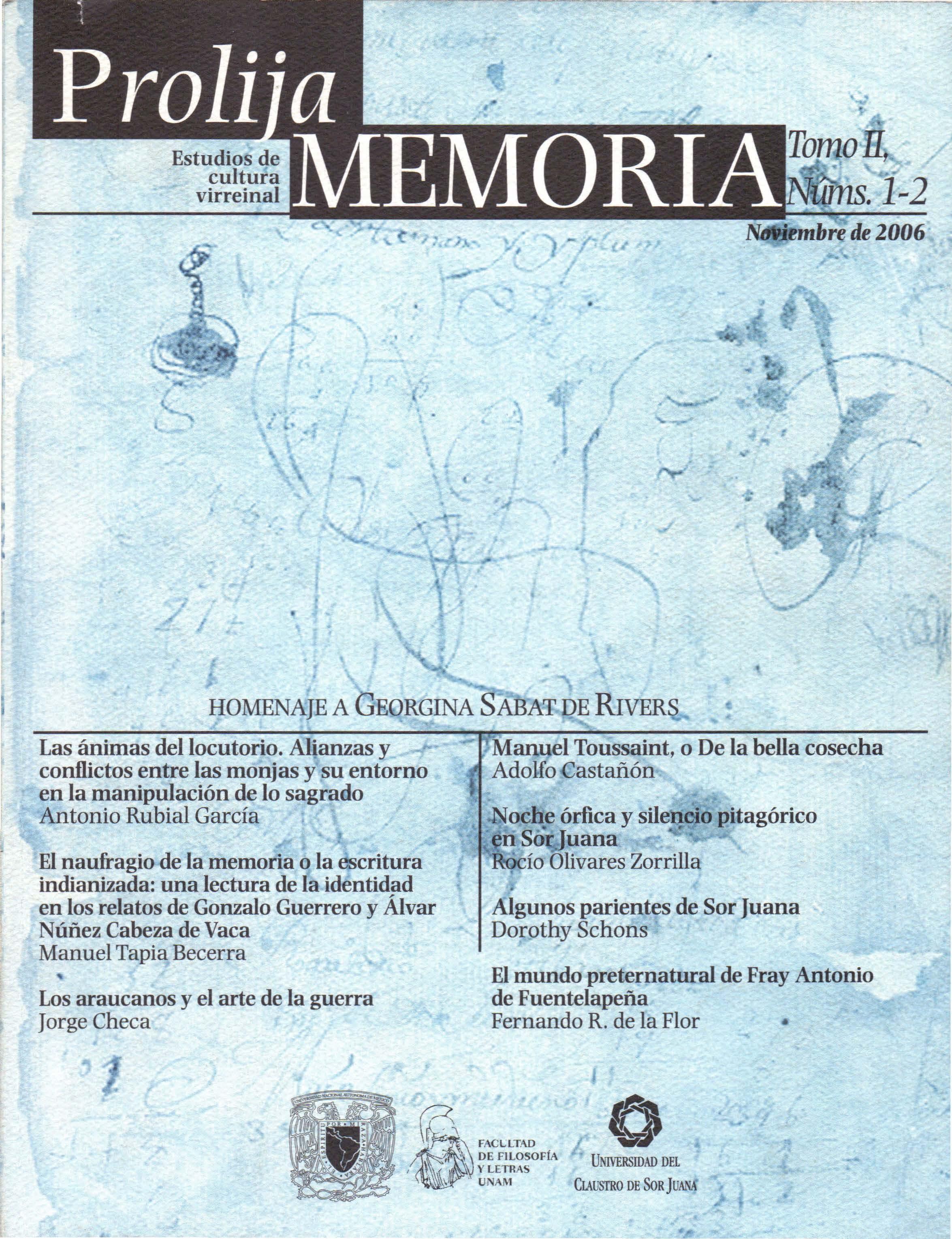 Portada Prolija Memoria 2006