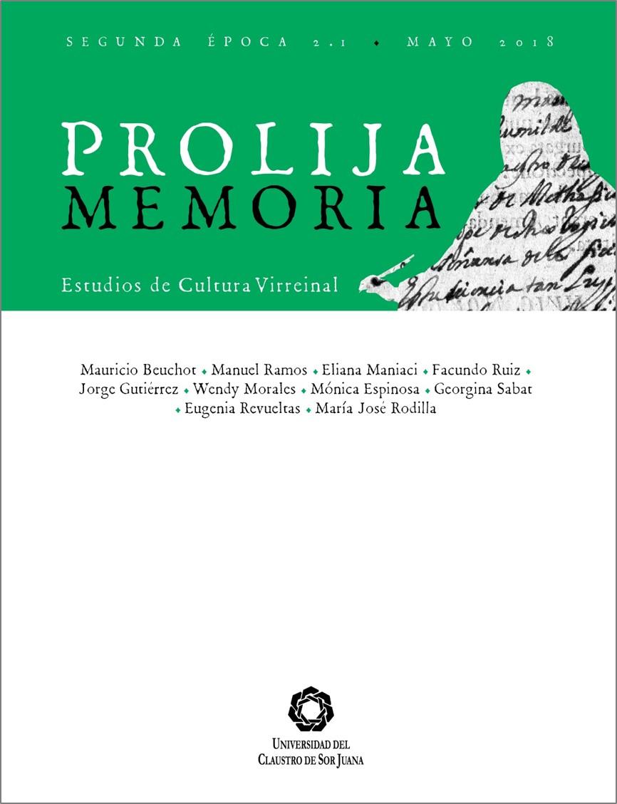 Portada Prolija Memoria, v.2, n. 1, 2018