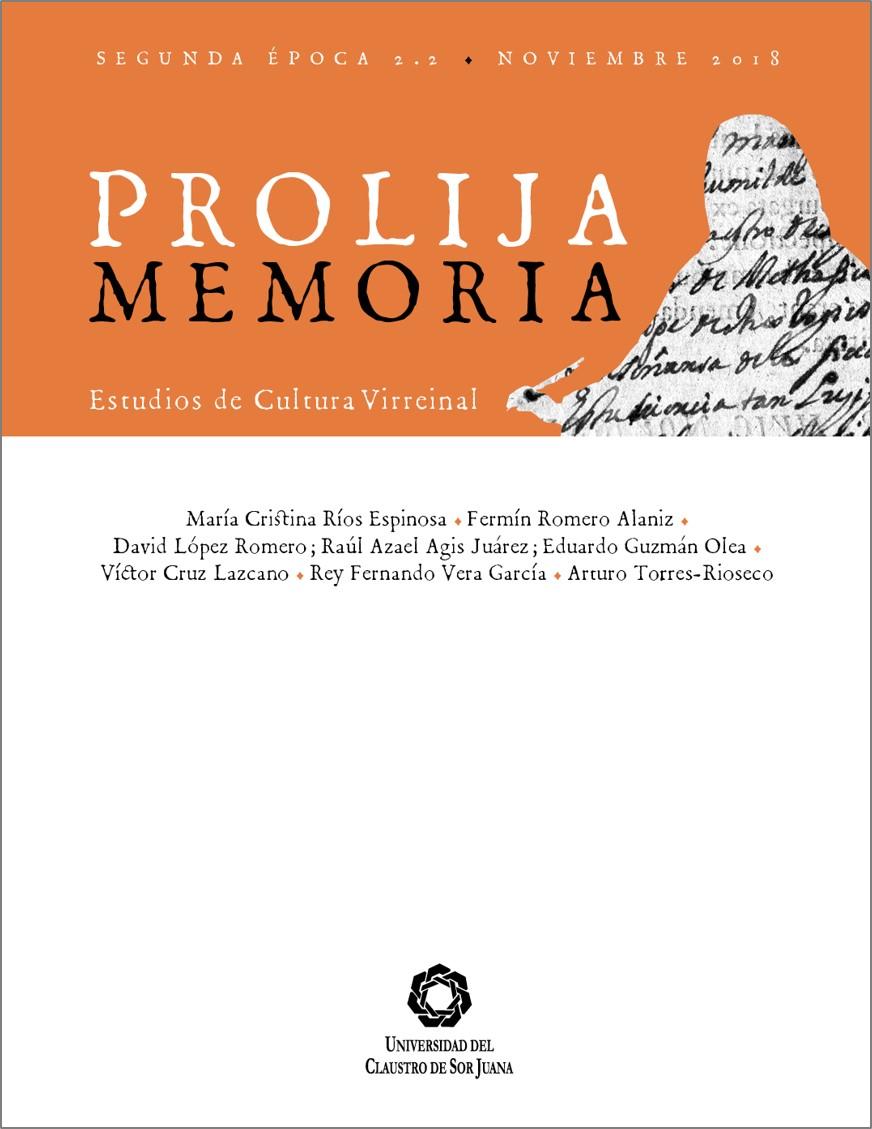 Portada Prolija Memoria, v.2, n. 2, 2018