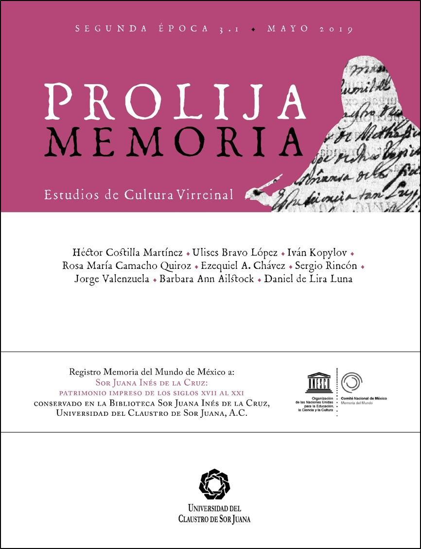 Portada Prolija Memoria, 2a época, vol. 3, n.1, 2019